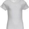 Maglietta manica corta bambina interlock Ma.Re. bianca con fiocchetto-0
